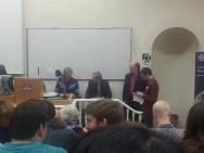 l-r Mayke de Jong, Stuart Airlie, Roger Collins, Simon MacLean