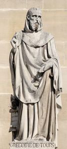 http://en.wikipedia.org/wiki/Gregory_of_Tours#mediaviewer/File:Gregory_of_Tours_cour_Napoleon_Louvre.jpg